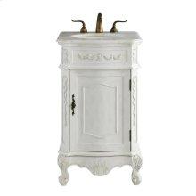 21 In. Single Bathroom Vanity Set In Antique White