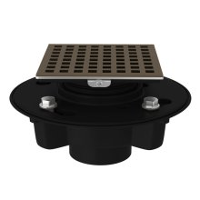 "English Bronze ABS 2"" X 3"" Drain Kit With 3143 Matrix Decorative Cover"