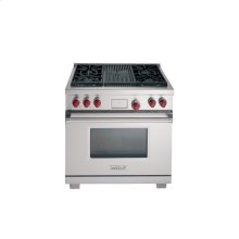 """36"""" Dual Fuel Range with 4 Burners and CharBroiler"""