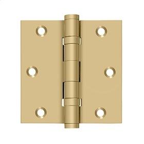 """3 1/2""""x 3 1/2"""" Square Hinge, Ball Bearings - Brushed Brass"""