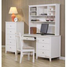 Selena Contemporary White Desk