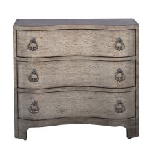 Vintage Glam Three Drawer Accent Storage Chest