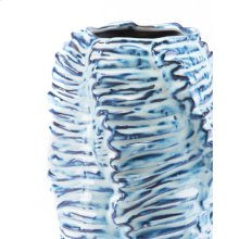 Mar Tall Vase Blue & White