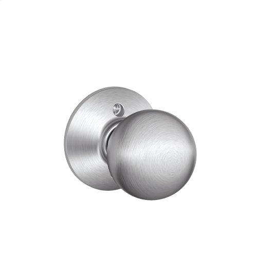 Orbit Knob Non-turning Lock - Satin Chrome