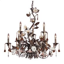 Cristallo Fiore 9-Light Chandelier in Deep Rust