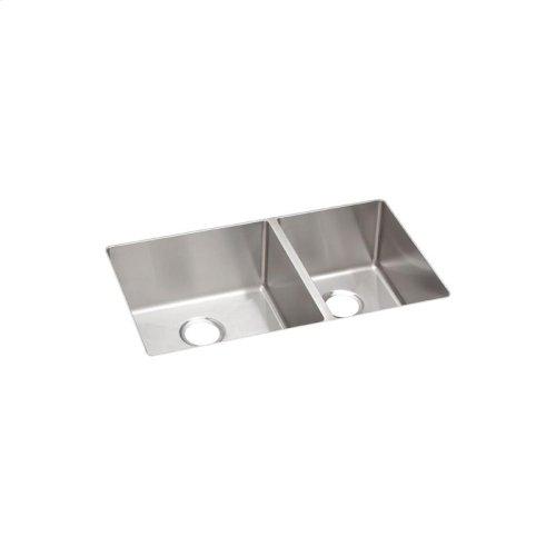 "Elkay Crosstown Stainless Steel 31-1/2"" x 18-1/2"" x 9"", 60/40 Double Bowl Undermount Sink"
