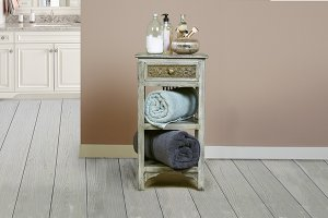 Alena Two Shelf Stand - Graywash