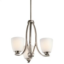 Granby Collection Granby 3 Light Chandelier - Brushed Pewter