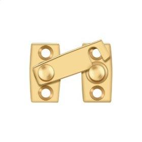 """Shutter Bar/Door Latch 1 1/8"""" - PVD Polished Brass"""