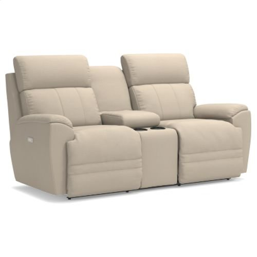 Talladega PowerRecline La-Z-Time® Full Reclining Loveseat w/ Console and Power Headrest