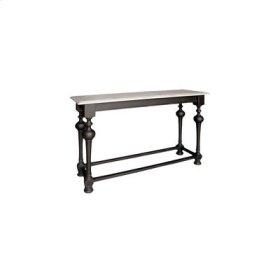 Arizona Sofa Table Sand Through Black and Grey Wirebrushed Top Lodge Sofa Table