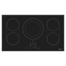 "Black Floating Glass 36"" Induction Cooktop Product Image"