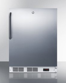 ADA Compliant Commercial Built-in Medical All-freezer Capable of -25 C Operation, With Wrapped Stainless Steel Door, Towel Bar Handle, and Lock