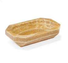 Tatum Grand Geometric Bowl - Honey Onyx