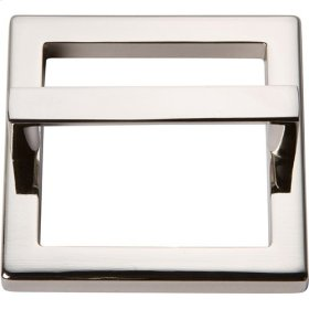 Tableau Square Base and Top 2 1/2 Inch - Polished Nickel