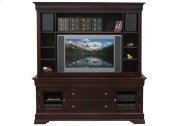 "Phillipe 74"" HDTV Cabinet w/Fireplace and Hutch"