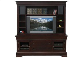 """Phillipe 74"""" HDTV Cabinet w/Fireplace and Hutch"""