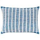 Macrame Pillow, BLUE, 14X20 Product Image