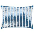 Macrame Pillow, BLUE, 14X20 Product Image