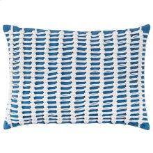 Macrame Pillow, BLUE, 14X20