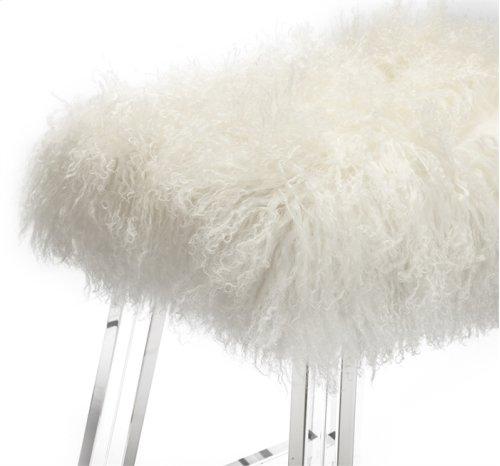 Reva Counter Stool - Ivory Sheepskin