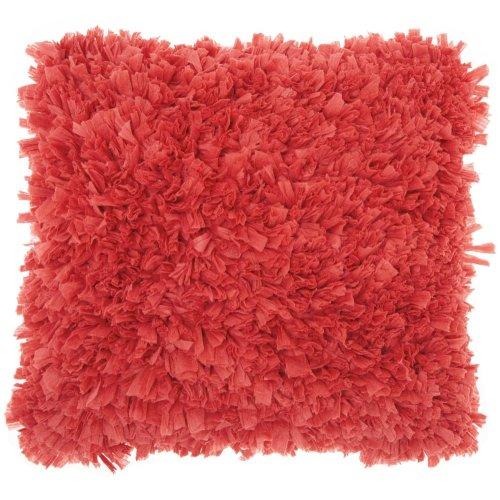 """Shag Dl660 Coral 1'5"""" X 1'5"""" Throw Pillows"""