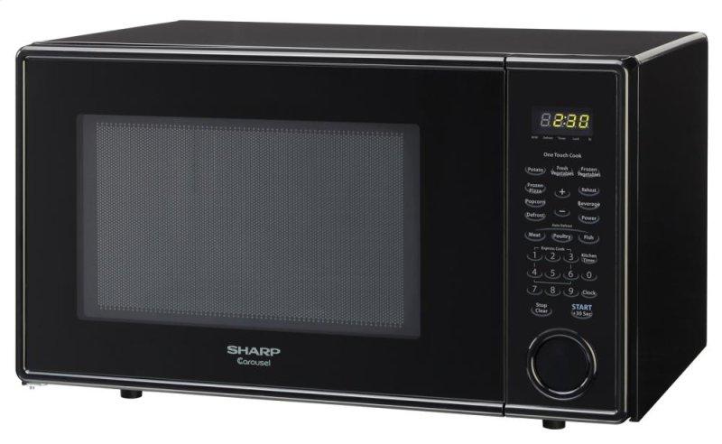 ... NJ - Sharp Carousel Countertop Microwave Oven 1.1 cu. ft. 1000W Black
