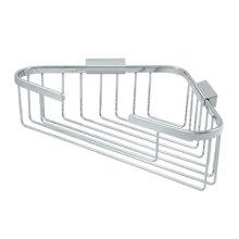 """Wire Basket, 13-1/4"""" x 10-1/4"""" Triangular Corner - Polished Chrome"""