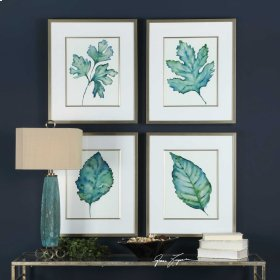Spring Leaves Framed Prints, S/4