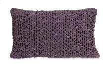 Mailie Purple Crochet Pillow