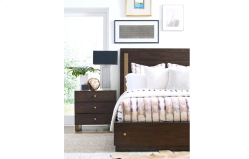 Austin by Rachael Ray Panel Bed w/Storage & Brass Accents, King 6/6