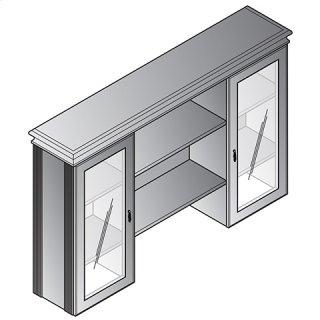 """Townsend 72"""" Hutch W/doors & Shelves, 72wx15dx45h"""