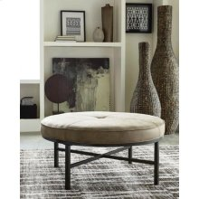 Industrial Brown Upholstered Ottoman