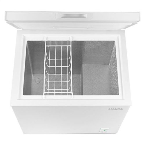 5.3 Cu. Ft. Compact Freezer with 2 Rollers - white