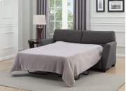Speakeasy - Full Sleeper W/ 4'' Gel Mattress-charcoal W/2 Accent Pillows Product Image