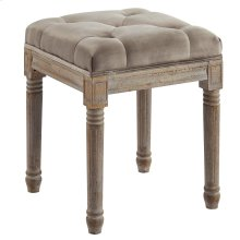 Colette Single Square Bench in Taupe
