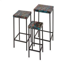 Barcelona Mosaic Glass Tables - Set of 3