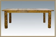 Glacier Country Log 4 Post Dining Table with Leaves