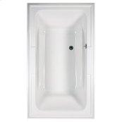 Town Square 72x42 inch EverClean Air Bath - White