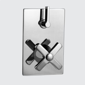E-Mini Thermostatic - Integrated Rectangle Plate - Trim only with Lira handle