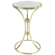 Aura Accent Table in Brass