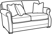 Coburn Fabric Loveseat without Nailhead Trim