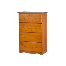 4-Super Jumbo Drawer Chest, Honey Pine