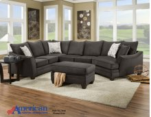3810 - Flannel Seal 3-Piece Sectional