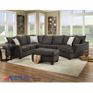 American Furniture Manufacturing3810 - Flannel Seal Sectional