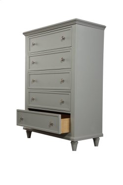5 Drawer Chest-gray Product Image
