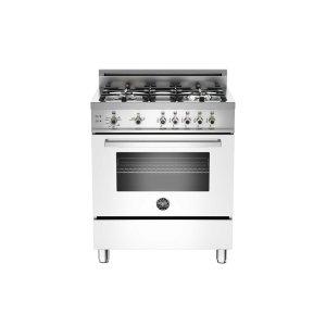 30 4-Burner, Gas Oven White -