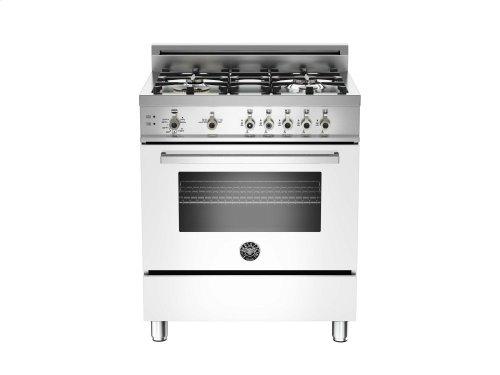 30 4-Burner, Gas Oven White
