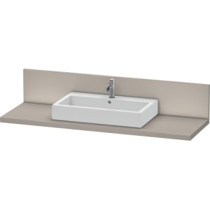 Console + Back Panel For Above-counter Basin And Vanity Basin, Terra (decor)