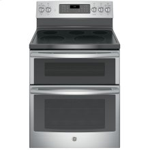 "Floor Model - GE® 30"" Free-Standing Electric Double Oven Convection Range"
